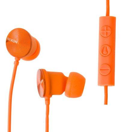 Nixon Wire 3-Button Mic Headphones Orange, One Size