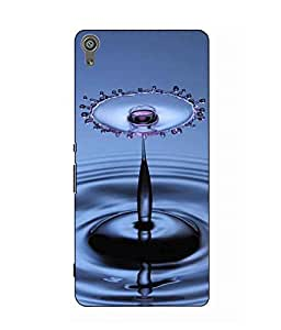 Snazzy Water Drop Printed Blue Hard Back Cover For Sony Xperia XA Dual