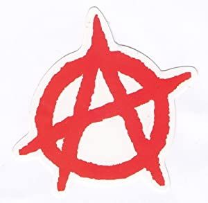 Punk Anarchy Sticker for Skateboards, Snowboards, Scooters, BMX, Mountain Bikes, Laptops, iPhone, iPod, Guitars etc