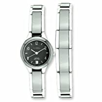 Genuine Chisel (TM) Bracelet. Ladies Chisel Ceramic & Stainless Steel Black Dial Watch & Bracelet. 100% Satisfaction Guaranteed.