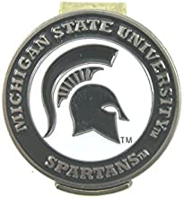 Michigan State Spartans Hat Clip with Golf Ball Marker