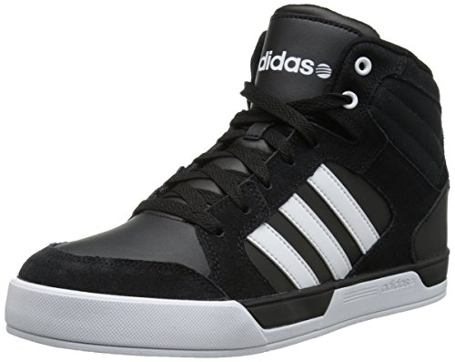 Adidas NEO Men's Bbadidas Raleigh Lifestyle Basketball Sneaker,Black/White/White,10.5 M US