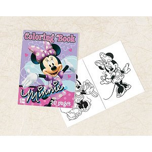"Amscan Disney Minnie Mouse Coloring Book Party Favor, Pink/Lavender, 3 1/2"" x 2 1/2"" - 1"