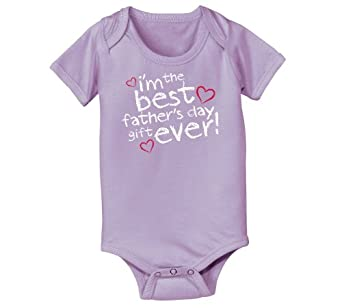 I'm The Best Father's Day Gift - Baby One Piece - LAVENDER - Newborn