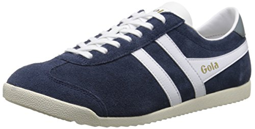 Gola Men's Bullet Suede Fashion Sneaker, Navy/White, 9 UK/10 M US