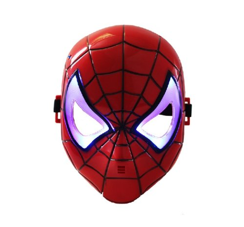 Spiderman Hero Led Light Up Mask Red (Youth)