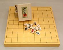 将棋セット ヒバ1寸卓上接合将棋盤竹と源平漆書駒のセット