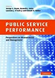 img - for Public Service Performance: Perspectives on Measurement and Management book / textbook / text book