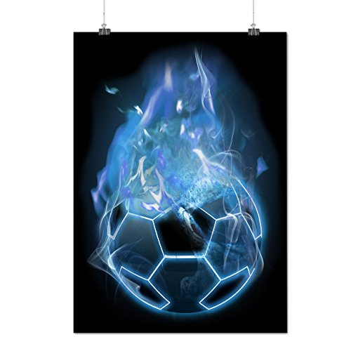 Devil Sport Football Fire Burn Matte/Glossy Poster A2 (17x24 inches) | Wellcoda (Diet Devil compare prices)