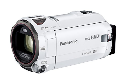 Panasonic HDビデオカメラ W870M ワイプ撮り 50倍ズーム ホワイト HC-W870M-W