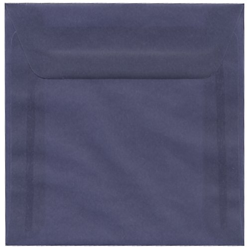 JAM Paper® Square (6.5 x 6.5) Envelope - Wisteria Purple Translucent - 25 envelopes per pack high quality 185 127cm wedding invitation card with inner paper and envelopes many kinds of styles sample link $0 95 per piece