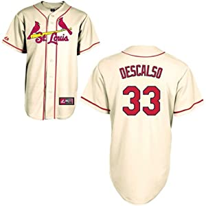 Daniel Descalso St Louis Cardinals Alternate Ivory Replica Jersey by Majestic by Majestic