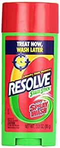 Resolve Laundry Stain Remover Pre Treat, Stain Stick, 3 Ounce (Pack of 3)