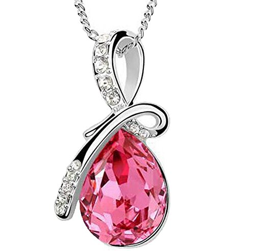Usstore Women Lady Rhinestone Chain Crystal Pendant Necklace Jewelry Gift (Red) (Red Hot Dollars Candy compare prices)