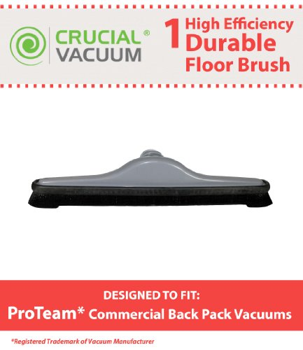 Janitorial Heavy Duty 1 1/2 inch Vacuum Cleaner Floor Brush Tool Attachment fits ProTeam Floor Brush Vacuum Attachment Tool For Proteam Dustcare Hoover Oreck Commercial Backpack Vacuums; 14 inch wide; Compare To Part # 100144
