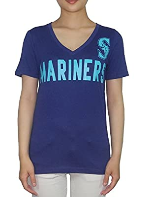 Womens MLB Seattle Mariners V-Neck T Shirt / Tee by Pink Victoria's Secret