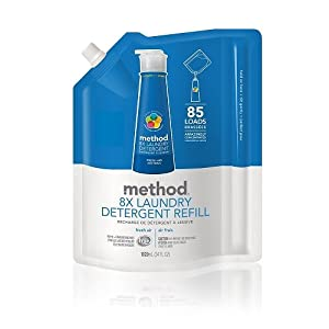 Method 8x Concentrated Laundry Detergent, Fresh Air, 85 Loads