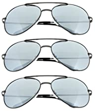Fiore(TM) Aviator Sunglasses Classic Metal w/ Spring Hinges