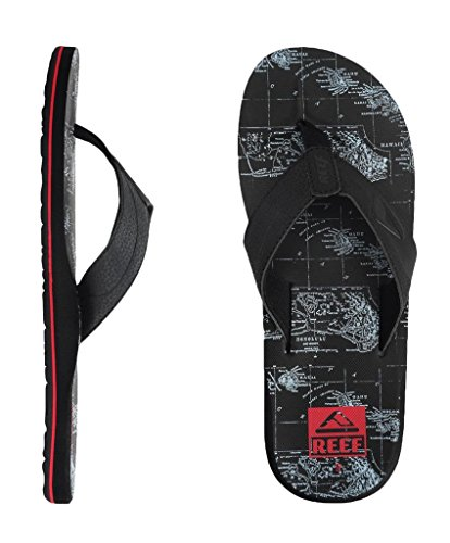 Reef Men's HT Prints Thong Sandal reef phantoms sandal malibu blue black