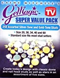 GeMagic/Bedazzler 250 Assorted Silver-Tone and Gold-Tone Studs