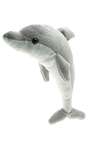 Cute Small Dolphin, 15 Inch Stuffed Animal, Kids Dolphin, Adorable Dolphin Present or Dolphin Party Gift, Pillow Soft And Cuddly Fun Dolphin Toy, Cheap Fun For Kids.