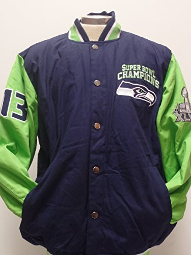 NFL-Seattle-Seahawks-Superbowl-Champions-Cotton-Canvas-Button-up-Jacket