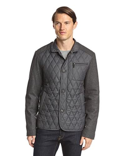 7 for All Mankind Men's Mix Media Quilted Jacket