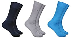 Balenzia Men's Mercerized Socks (Pack Of 3) (Jagmini79_Multi)