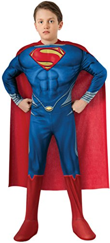 Boys Superman Deluxe Kids Child Fancy Dress Party Halloween Costume