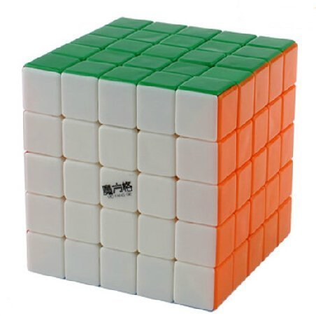 Qiyi MoFangGe Snow Leopard 5X5X5 Speed Cube Puzzle Stickerless