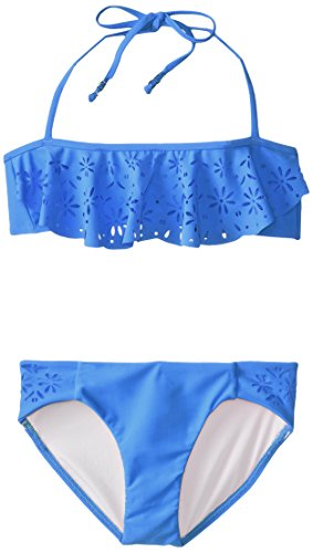 Seafolly Big Girls' Summer Camp Mini Tube Bikini, Denim Blue, 10