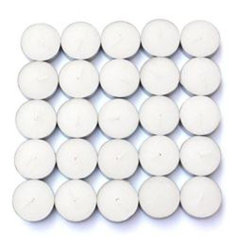 CTZ-030 50 Vanilla Scented White Tealight Candles