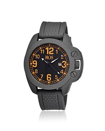Mos Men's MOSCS105 Caracas Grey/Black/Orange Silicone Watch