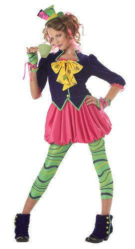 California Costumes Girls Tween Mad Hatter Costume