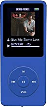 AGPtEK A02 70 Hours Music Playback MP3 Lossless Sound Entry Hi-Fi 8GB Music Player (Supports up to 64GB, SD/TF Card is not included in the package)Dark Blue