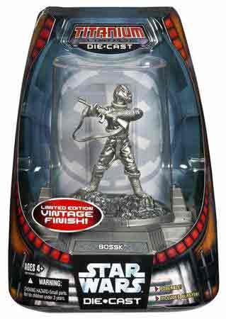 Star Wars Titanium Series Diecast 3 3/4 Figure Limited Edition Bossk (Vintage Finish) - 1