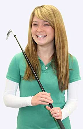 "Golf Sun Sleeves, Large (Bicep 10 3/4""), White"