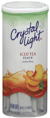 Crystal Light Peach Tea Drink Mix (12-Quart), 1.5-Ounce Packages (Pack of 4)