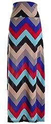 Chevron Floral Aztec Tribal Striped Printed Full Maxi Skirt