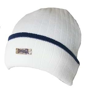 Lonsdale Strickmütze Winter Kappe Mütze Herren Beanie (Weiß)