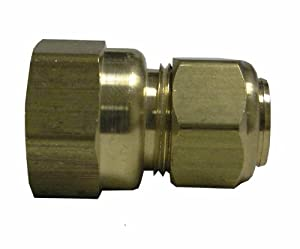 Watts LFA116 Compression Female Adapter, 3/8-Inch OD x 1/4-Inch FIP