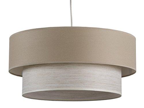 maison-de-lune-42290-lampara-techo-doble-pantalla-textura-color-marron-y-blanco