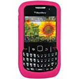 Amzer Silicone Skin Jelly Case for BlackBerry Curve 8520 Gemini - Hot Pink