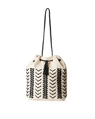 Nila Anthony Women's Rope Bucket Bag, Ivory