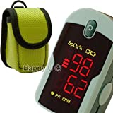 ChoiceMed Fingertip Pulse Oximeter with Lanyard and Protective Pouch