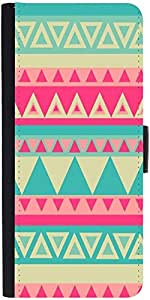 Snoogg Aztec Pinkdesigner Protective Flip Case Cover For Apple Iphone 5/5S