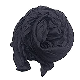BD Women Winter Scarf Long Scarves Shawls Wraps Pashmina Black