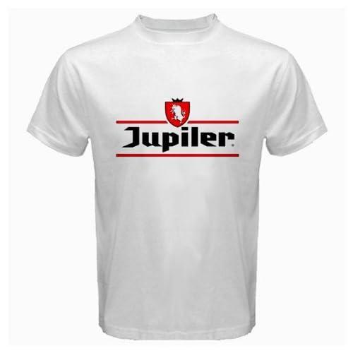 "Amazon.com: Jupiler Beer Logo New White T-Shirt Size "" L """