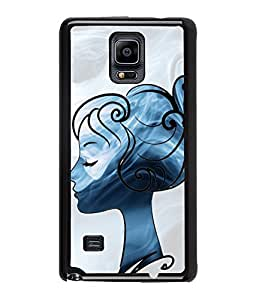 Fuson Cute Girl Back Case Cover for SAMSUNG GALAXY NOTE 4 - D3662