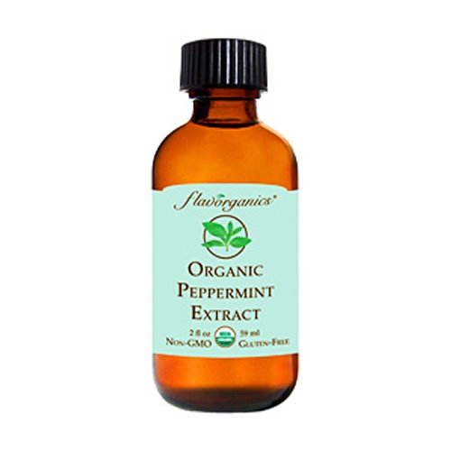 Flavorganics Organic Peppermint Extract, 2-Ounces Glass Bottles (Pack of 3) (Peppermint Extract compare prices)